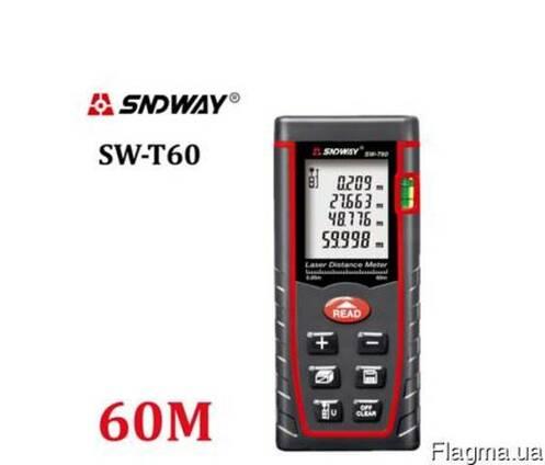 Дальномер лазерный ультразвуковой 60 м Sndway SW-T60 рулетка