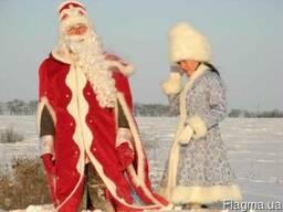 Дед Мороз и Снегурочка на поселке Котовского, Одесса