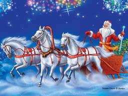 Дед Мороз и Снегурочка в Миргороде