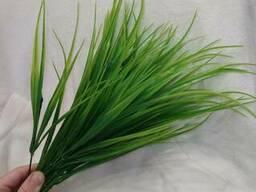 """Декор """"Зелёная трава"""". Пластиковый декор. Пластиковый куст, ветвь."""