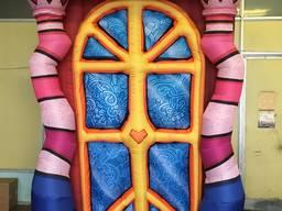 Декорации новогодние надувные производство