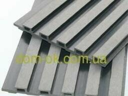 Декоративная фасадная панель 175х13х2200 графит