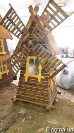 Декоративная мельница, мельница садовая