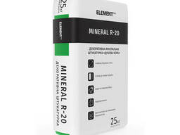 Декоративная минеральна штукатурка Дубовая кора Mineral R20 Element Facade System 25 кг