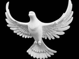 Декоративная накладка (голубь)