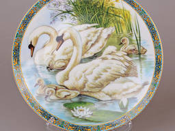 Декоративная настенная тарелка Лебеди 21см.
