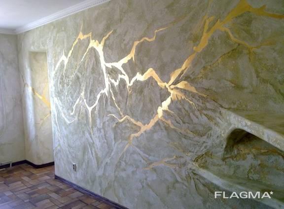 Декоративная покраска, декор стен и потолков