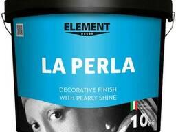 """Декоративне покриття для стін """"La Perla"""" Element Decor, з оксамитовим блиском, 10 кг"""