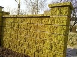 Декоративный блок 400*200*200 мм заборный (цветной)