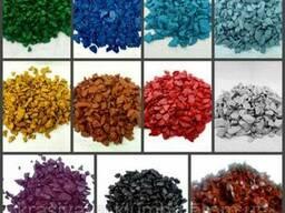 Купити кольоровий декоративний гравій, щебінь крошку Україна