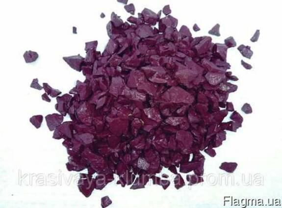 Декоративный цветной щебень (крошка, гравий) , фиолетовый