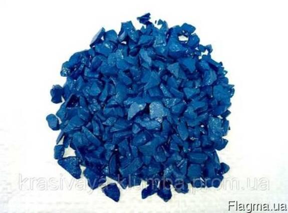 Декоративный цветной щебень (крошка, гравий) , синий Подробн