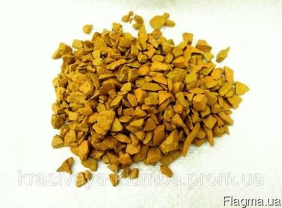 Декоративный цветной щебень (крошка, гравий) , желтый Подроб
