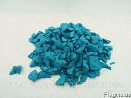 Декоративный цветной щебень (крошка, гравий) , голубой
