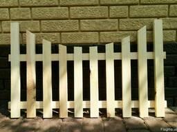 Декоративный деревянный забор 002