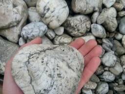 Декоративный дикий камень речная галька гравий для клумб сад