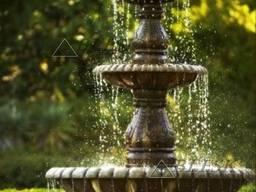 Декоративный фонтан . минималистический дизайн .