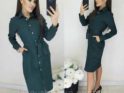 Демисезонное женское платье-рубашка (42-54 р), доставка. ..