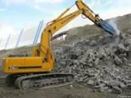 Демонтаж бетона и бетонных конструкций. Спецтехника