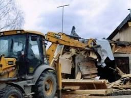 Демонтаж будинків, демонтажні роботи.