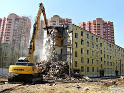 Демонтаж и снос зданий любой сложности