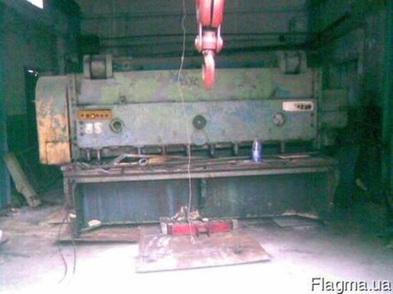 Демонтаж-монтаж такелаж гильотин, станков.