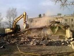 Демонтаж не несущих конструкций Экскаваторные работы: копка