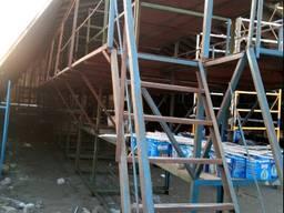 Демонтаж построек и металлоконструкций.
