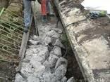 Демонтаж, разрушение, бетона, фундамента