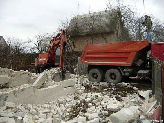 Демонтаж строений, вывоз строительного мусора
