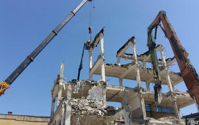 Демонтаж высотных конструкций Одесса.