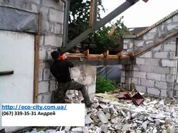 Демонтаж зданий домов конструкций Киев. Вывоз.
