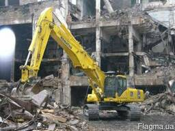 Демонтаж зданий и сооружений . Разборка металллоконсрукций