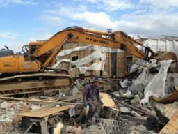 Демонтаж зданий сооружений дач Макаров