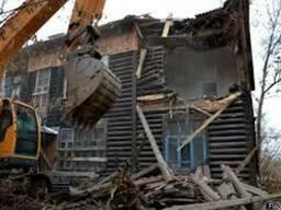 Демонтаж зданий, стен вывоз мусора, Березань