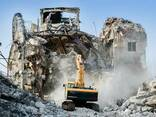 Демонтаж зданий, Услуги Аренда экскаватора с гидромолотом. - фото 1