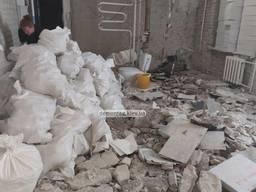 Демонтажные работы. Демонтаж стен, стяжки пола, перегородок, штукатурки, плитки