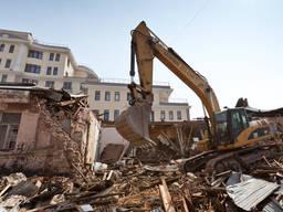 Демонтаж зданий, снос зданий, монтаж дорожных плит