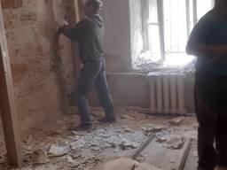 Демонтажные работы, Демонтаж стен, стяжки, штукатурки