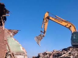 Демонтажные работы, подготовка к ремонту, разборка зданий