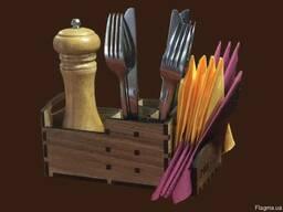 Органайзер дерев'яний (спеції, серветки, та прилади)