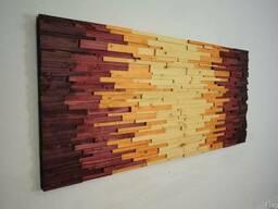 Дерево в интерьере, деревянные панно, 3-D мозаика из дерева