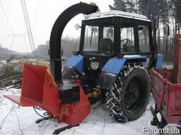 Деревоподрібнююча машина навісна на трактор