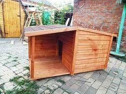 Деревянная будка для собак - фото 3