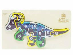 Деревянная игрушка Пазлы динозавры, с нумерацией MD 2507 (Цератопс MD 2507-6)