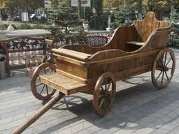 Деревянная карета, телега. Под заказ. Код: Т-2