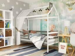 Деревянная кровать домик Том