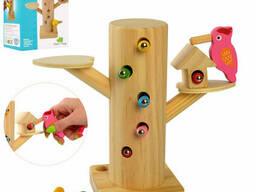 Деревянная магнитная Игра Limo Toy Дятел, пенек, гусеницы (MD 2850)