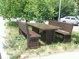 Деревянная мебель в классическом стиле 2200*950 для кафе. ..