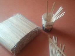 Деревянная мешалка для горячих напитков